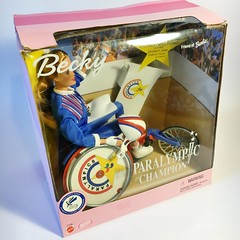 2000 Paralympic Champion Becky Doll #27158 (The Barbie Room) Tags: friend barbie racing gold sydney 2000 paralympic games champion becky doll 27158 oympics paralympics wheelchair disabled 1999 race australia