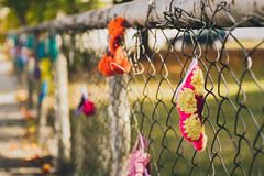 A crocheted fence... (hey ~ it's me lea) Tags: hff crochet chainlink newdenver