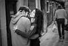 Embrace (toletoletole (www.levold.de/photosphere)) Tags: venice xpro2 xf35mm venedig fuji venezia sw people bw portrait porträt embrace umarmung verliebt love couple paar