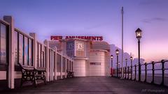 Pier Dreams (fieldino34) Tags: bench lamps building sunset dusk artdeco nikond750 nikon boardwalk england purple beautiful softlight light beltofvenus twilight evening jetty pier seascape sea sussex worthingpier worthing