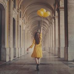 Self Portraits 2018 3/52 (Teresa Risco) Tags: yellow dress balloons magic fantasy selfportrait selfportraiture girl autorretrato portrait chica mujer vestido amarillo fantasía surreal postprocessed canon 6d globos conceptual lisboa lisbon portugal terreiro do paço terreirodopaço praçadocomercio iris