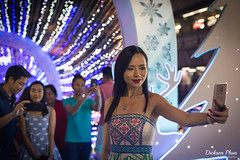 "A ""perfect"" selfie (gunman47) Tags: 2017 50mm asia asian bangkok christmas december east mall paragon siam south station thai thailand f14 night people photography plastic selfie shopping surgery woman krungthepmahanakhon"