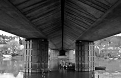 Beneath (sturkster) Tags: canon canona1200 canonpowershota1200 a1200 france bridge pont blackwhite bw noiretblanc powershot lavarennechennevières saintmaurdesfossés trip2017 europe