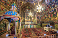 Vank Cathedral, Isfahan, Iran (Feng Wei Photography) Tags: persianculture traveldestinations isfahan ornate landmark religion indoors famousplace builtstructure armenianculture iranianculture travel middleeast lowangleview cathedral church persian vertical rearview tourist intricacy goldcolored art christian christianity vankcathedral armenian decoration architecture fresco colorimage tourism iran spirituality irn