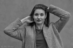 Smile (piotr_szymanek) Tags: marcelina portrait outdoor blackandwhite face eyesoncamera skinny young woman girl smalltits smile hand 1k 5k 10k 20f 50f 20k marcelinab closeup 30k