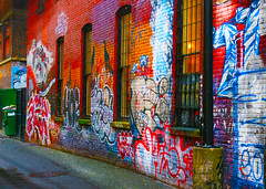 Some Alley (thomas.zh) Tags: graffiti alley street stuff painting lilpump meme funny tinder gabe chicken tide pods dab good fav