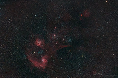 IC405/410/417, Guangxi, China (songallery) Tags: wilsonlee songallery astronomy astrophotography stars sky night longexposure pixinsight nebula milkyway hezhou guangxi china chn d810a deepskyobject em11temma2m flamingstarnebula ic405 ic410 ic417 ngc1893 ngc1907 ngc1912 ngc1931 nikon thestar16aur thestar19aur