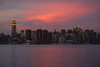 Ese magnifico y rápido momento de color (Ál Men-chez) Tags: nueva york color magenta atardecer skyline pinceladas