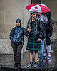 Tourists in the Rain (FotoFling Scotland) Tags: edinburgh edinburghfestivalfringe royalmile highstreet kilt rain umbrella fotoflingscotland