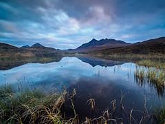 Outlands (lloydich) Tags: scotland reflection clouds sunset skye isle