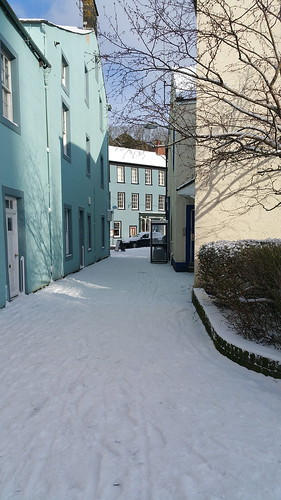 Snowy backstreet in Cockermouth