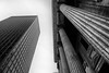 Old and New in Montreal, Canada (` Toshio ') Tags: toshio montreal canada quebec bank architecture historic modern skyscraper columns bw blackandwhite patterns fujixt2 xt2 oldmontreal city placedarmes