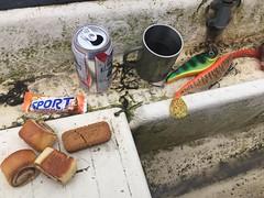 Fiskefika 12/1 (Atomeyes) Tags: mat fiske öl fika kaffe gifflar kex