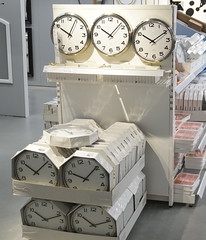 wonder what the time is now! (spelio) Tags: ikea testing new camera a6000 sony jan 2018 shopping shoppingnotbuying justlooking sets lighting available decoration design