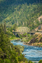 Heading South (Thomas Hawk) Tags: america grantspass hellgatebridge oregon rogueriver southernoregon usa unitedstates unitedstatesofamerica bridge river us fav10