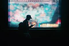Somewhere in Osaka (Laser Kola) Tags: streetphotography street photography streetstyle urbanphotography urbanstyle urbanlife stylish exploringthecity fujifilm laserkola lasseerkola moody neon neonlights cool silhouette onthephone nightphotography nightlights night fujifilmx100s fujix100s x100 x100s contrast art people new 2016 osaka japan 大阪市 難波 namba urban city citylife cinematic exploring lost bladerunner future futuristic futurism colorful colourful somewhereinosaka