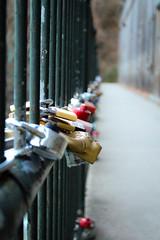 Savannah River Rapids (WhiskeyTFox) Tags: lock metal texture paint walkway fence augusta georgia ga