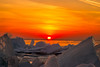 Firey nIce (Donnymoorephotography) Tags: sunset fire ice snow lake erie detroit river windsor essex ontario canada landscape icefield white red orange yellow canon 7d 24105