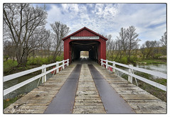 The Red Covered Bridge over Bureau Creek Near Princeton, Illinois - No. 1 (Nikon66) Tags: redcoveredbridge coveredbridge princeton bureaucounty illinois nikon d800