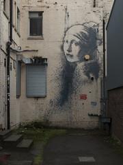 The Girl with the Pierced Eardrum (Crisp-13) Tags: banksy graffiti street art wall the girl with pierced eardrum