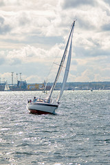 Rostock 2 (diederichsenlars) Tags: rostock hafen förde sonne wolken clouds ships balticsea ostsee