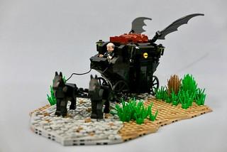 Bat Carriage & medieval Batman