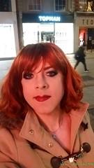 Grafton street (eileen_cd) Tags: selfie redhead graftonstreet dublin crossdresser transvestite cd tv