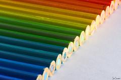 Pencil Rainbow (iecharleton) Tags: macro rainbow pencil coloredpencil draw officesupplies whitebackground spectrum closeup
