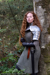 Back in the Green (oberonsson) Tags: roneecollins knight warrior woman medieval sword armor chainmail larp cosplay fantasy