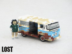 DHARMA van (Volkswagen T2) from Lost (Mad physicist) Tags: lego volkswagen transporter lost hurley television t2 baywindow rusty