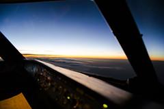 Sunrise and Venus (rmnsvn) Tags: aviation night cockpit airbus a320 sunrise