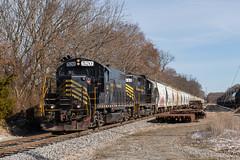 Rosenhayn Avenue (Dan A. Davis) Tags: ww winchesterwestern freighttrain train railroad locomotive nj newjersey bridgeton gp9 cm31