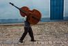 Trinidad, Cuba (jaumescar) Tags: trinidad sanctispíritus cuba musician violoncello cello music street photo travel photography man blue door sandals stones heavy hardwork big cuban streetmusic salsa passion vocation art canpubphoto inpublic