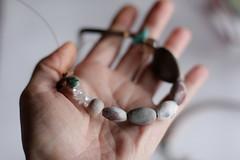 IMG_1196_one bird_turquoise (Anastàssia) Tags: smoke fired ceramics smokefiredceramics ceramicjewelry jewelry jewelrydesign gray grey handmade fetama hechoamano slowfashion imadeit
