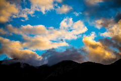 Circumstances Cast Our Fate, Maybe Wrong, Maybe Right (Thomas Hawk) Tags: america angelesnationalforest bigtujungacanyon california losangeles southerncalifornia tujunga usa unitedstates unitedstatesofamerica clouds helicopter fav10