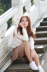 DP1U7276 by c0466art - Beautiful 張倫甄 got pretty face and pure quality , and she was very popular and welcome of internet model,becouse she is very kind and sweet girl