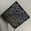 Tangled Holographic Scratch-off Mini Note (Pentadactyl Mammal) Tags: zentangle holographic black
