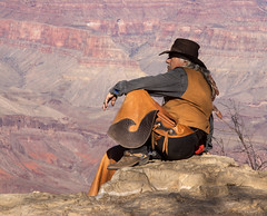 Cowboy (iatassi) Tags: nativeamericanland cowboy grandcanyonvillage southrim southwest colors ledge northernarizona arizona iatassi iatassiphoto iatassihotmailcom iatassiphotography hat copyrightiatassi copyright canon5dmarkiv