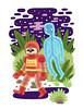 Haunted Spacesuit (Jack Teagle) Tags: ghosts deadastronaut soul haunted spirit spacesuit cosmic space illustration