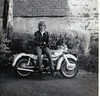 50 years ago - moi (47604) Tags: moi me ariel arrow motorbike motor cycle golden leather jacket hair jeans