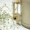 amade_golden_medallion_necklace (ggagatka) Tags: golden necklace pendant handmade handcrafted jewellery jewelry tiny cute medallion black vintage retro fashion