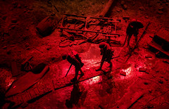 Sacrifice (KC Mike Day) Tags: war sacrifice world worldwari monument museum libertymemorial soldiers freedom mud light red path weapons shadow