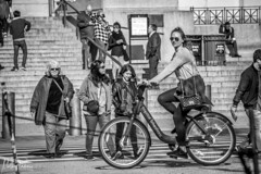 Lets go ride a bike!! (mattpacker1978) Tags: bike blackandwhite black cycling wheeld dc america sunny sunglasses girl people watching just outdoor streetphotography canon canondigital canonphotography canonlife city