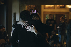 0127 Courtney hugs Conor at Paschall Bar (movies05) Tags: 30th conorwallace courtneymarie denton kimnall party paschallbar project365 bar birthday glowsticks hug love tiara
