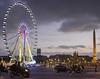 Paris Wheel Concorde (2.5 m views ! https://society6.com) Tags: 17janvier2018 concorde montparnasse paris tower visite city cloud evening fontaine immeuble jsebouvi moto place purple red roue wheel