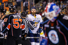 "Kansas City Mavericks vs. Toledo Walleye, January 20, 2018, Silverstein Eye Centers Arena, Independence, Missouri.  Photo: © John Howe / Howe Creative Photography, all rights reserved 2018. • <a style=""font-size:0.8em;"" href=""http://www.flickr.com/photos/134016632@N02/39130007514/"" target=""_blank"">View on Flickr</a>"