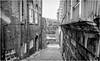 Newcastle Upon Tyne . (wayman2011) Tags: f2 fujifilmxf23mm lightroomfujifilmxpro1 wayman2011 bw mono city town alleys oldbuildings tynewear tyneside newcastle uk