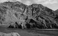 folded rock (erich torpedo) Tags: bw bnw china dp1m folded merill monochrome mountains sigma silkroad xinjiang mountainside sky rock monument mountain landscape