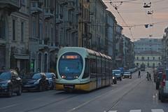 Milano Tram 7503 (Dirk Buse) Tags: milano lombardia italien ita mailand lombardei italy italia tram strasenbahn street dämmerung city urban m ft m43 olympus zuiko pro 7503