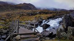 (mandysp8) Tags: mist bridge waterfall stream winter wales snowdonia national park rocks mountain